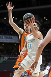 Real Madrid Facundo Campazzo and Valencia Basket Aaron Doornekamp during Liga Endesa match between Real Madrid and Valencia Basket at Wizink Center in Madrid , Spain. March 25, 2018. (ALTERPHOTOS/Borja B.Hojas)