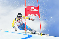 February 17, 2017: Matts OLSSON (SWE) competing in the men's giant slalom event at the FIS Alpine World Ski Championships at St Moritz, Switzerland. Photo Sydney Low