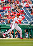 22 September 2018: Washington Nationals rookie outfielder Juan Soto at bat in the first inning against the New York Mets at Nationals Park in Washington, DC. The Nationals shut out the Mets 6-0 in the 3rd game of their 4-game series. Mandatory Credit: Ed Wolfstein Photo *** RAW (NEF) Image File Available ***