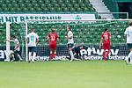 1:0 Yuya Osako (Werder Bremen #08) gegen Timo Horn Torwart (FC Koeln #1), Marco Friedl (Werder Bremen #32), Sebastiaan Bornauw (FC Koeln #33), Niclas Füllkrug / Fuellkrug (Werder Bremen #11), Ellyes Skhiri (FC Koeln #28)<br /> <br /> <br /> Sport: nphgm001: Fussball: 1. Bundesliga: Saison 19/20: 34. Spieltag: SV Werder Bremen vs 1.FC Koeln  27.06.2020<br /> <br /> Foto: gumzmedia/nordphoto/POOL <br /> <br /> DFL regulations prohibit any use of photographs as image sequences and/or quasi-video.<br /> EDITORIAL USE ONLY<br /> National and international News-Agencies OUT.