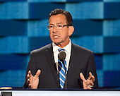 Governor Dannel Malloy (Democrat of Connecticut) makes remarks at the 2016 Democratic National Convention at the Wells Fargo Center in Philadelphia, Pennsylvania on Monday, July 25, 2016.<br /> Credit: Ron Sachs / CNP<br /> (RESTRICTION: NO New York or New Jersey Newspapers or newspapers within a 75 mile radius of New York City)