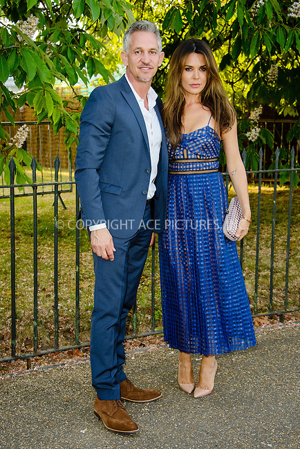 WWW.ACEPIXS.COM<br /> <br /> July 2 2015, New York City<br /> <br /> Gary Lineker and Danielle Bux arriving at The Serpentine Gallery summer party at The Serpentine Gallery on July 2, 2015 in London, England<br /> <br /> By Line: Famous/ACE Pictures<br /> <br /> <br /> ACE Pictures, Inc.<br /> tel: 646 769 0430<br /> Email: info@acepixs.com<br /> www.acepixs.com