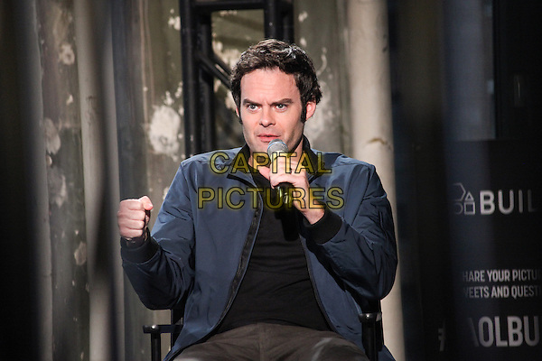 NEW YORK, NY - SEPTEMBER 16: Bill Hader at AOL's Build Speaker Series promoting his new film, &quot;The Skeleton Twins&quot; on September 16, 2014.  <br /> CAP/MPI/DIE<br /> &copy;Diego Corredor/ MediaPunch/Capital Pictures