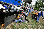 Sep 8, 2011; 4:41:26 PM; Rossburg, OH., USA; The 41st annual running of the World 100 Dirt Late Models racing for the Globe trophy at the Eldora Speedway.  Mandatory Credit: (thesportswire.net)