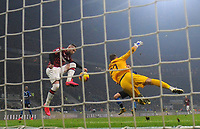 9th February 2020, Milan, Italy; Serie A football, AC Milan versus Inter-Milan; AC Milans Ante Rebic  scores past keeper Padelli of Inter Milan for 0-1 in the 40th minute