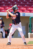 Cedar Rapids Kernels third baseman Travis Harrison #17 bats during a game against the Lansing Lugnuts at Veterans Memorial Stadium on April 30, 2013 in Cedar Rapids, Iowa. (Brace Hemmelgarn/Four Seam Images)