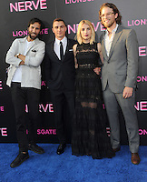 "NEW YORK, NY - July 12: Ariel Schulman, Dave Franco, Emma Roberts and Henry Joost attend the World premiere of ""Nerve"" at the SVA Theater on July 12, 2016 in New York City.Credit: John Palmer/MediaPunch"