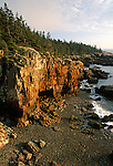 Shoreline at the Raven's Nest,  Acadia National Park, Maine, USA