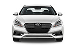 Car photography straight front view of a 2016 Hyundai Sonata-Plug-in-Hybrid Limited 4 Door Sedan Front View