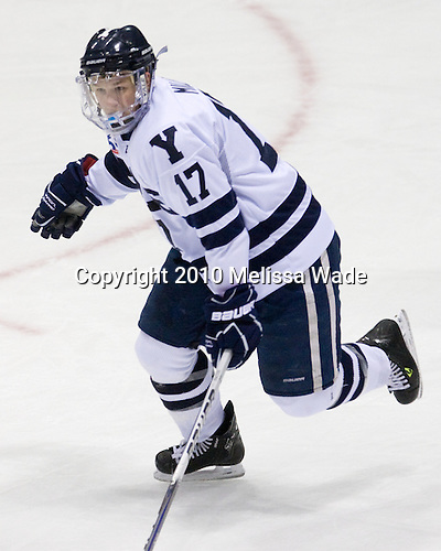 "Andrew Miller (Yale - 17) - The Yale University Bulldogs defeated the visiting Dartmouth College Big Green 7-3 in the ""Ivy Shootout"" championship game on Saturday, October 30, 2010, at Ingalls Rink in New Haven, Connecticut."