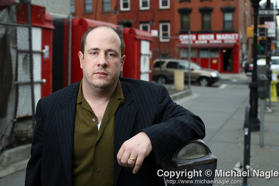 "BROOKLYN, NY - MAY 21, 2008:  Jeff Sharlet, author of ""The Family: The Secret Fundamentalism at the Heart of American Power,"" poses for portraits on March 21, 2008 in Brooklyn, NY.  (Photo by Michael Nagle)"