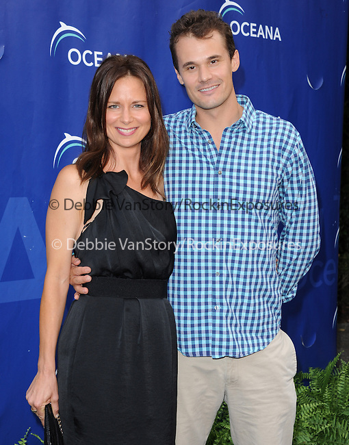 Mary Lynn Rajskub and Matthew Rolph  at The Oceana SeaChange Gala 2013 held at a private residence in Laguna Beach, California on August 18,2013                                                                   Copyright 2013 Hollywood Press Agency