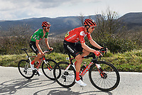 14th March 2020, Paris to Nice cycling tour, final day, stage 7;  ARNDT Nikias of Team Sunweb and BENOOT Tiesj with the green jersey of Team Sunweb in action during stage 7 of the 78th edition of the Paris - Nice cycling race, a stage of 166,5km with start in Nice and finish in Valdeblore La Colmiane on March 14, 2020 in Valdeblore La Colmiane, France