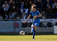 20190324 - OOSTAKKER , BELGIUM : Gent's Nicky Van Den Abbeele pictured during the quarter final of Belgian cup 2019 , a womensoccer game between KAA Gent Ladies and RSC Anderlecht , at the PGB stadion in Oostakker , sunday 24 th March 2019 . PHOTO SPORTPIX.BE | DAVID CATRY