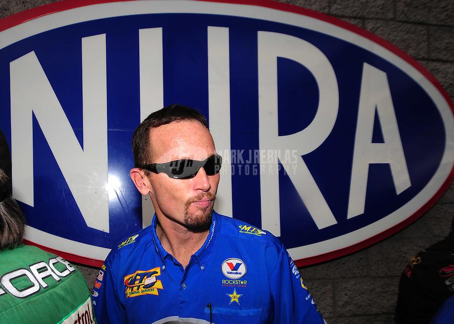 Nov. 2, 2008; Las Vegas, NV, USA: NHRA funny car driver Jack Beckman during the Las Vegas Nationals at The Strip in Las Vegas. Mandatory Credit: Mark J. Rebilas-