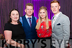 l-r Catherine, Jerry and Katie Fleming and Shane O'Sullivan all from Milltown pictured at Miss Kerry 2017 contest in The Brehon Hotel, Killarney last Friday night.