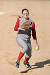 MADISON, WI - APRIL 15: Pitcher Leah Vanevenhoven #20 of the Wisconsin Badgers pitches the ball against the Purdue Boilermakers at the Goodman Diamond softball field on April 15, 2007 in Madison, Wisconsin. (Photo by David Stluka)
