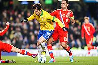 LONDRES, INGLATERRA, 25 MARÇO 2013 - AMISTOSO INTERNACIONAL - BRASIL X RUSSIA - Kaka do Brasil durante lance de partida contra a Rússia durante partida amistosa realizada no estádio Stamford Bridge, em Londres, na Inglaterra, nesta segunda-feira, 25.  (FOTO: GUILHERME ALMEIDA / BRAZIL PHOTO PRESS).