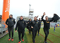 Jaguares players arrive for captain's run at AMI Stadium in Christchurch on Friday, 5 July 2019. Photo: Martin Hunter / lintottphoto.co.nz
