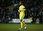 9th February 2018, The Den, London, England; EFL Championship football, Millwall versus Cardiff City; Goalkeeper Jordan Archer of Millwall watches play take shape