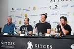 German actor Udo Kier, american director Steven Craig Zahler, american actor Vince Vaughn and producer Jack Heller attends to press conference during the presentation of film 'Brawl in Cell Block 99' at Sitges Film Festival in Barcelona, Spain October 09, 2017. (ALTERPHOTOS/Borja B.Hojas)
