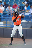 Baron Radcliff (24) of Norcross High School in Norcross, Georgia playing for the Baltimore Orioles scout team during the East Coast Pro Showcase on August 3, 2016 at George M. Steinbrenner Field in Tampa, Florida.  (Mike Janes/Four Seam Images)