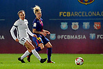 Spanish Women's Football League Iberdrola 2017/18 - Game: 9.<br /> FC Barcelona vs Madrid CFF: 7-0.<br /> Laura del Rio vs Mapi Leon.