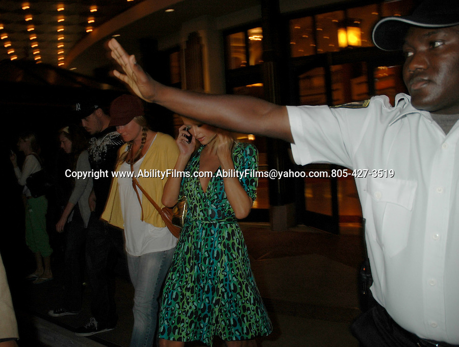 Paris and NIkki HIlton at the Grove movie theatre in HOllywood.