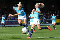 Steph Houghton (L) of Manchester City Women and Gemma Bonner of Manchester City Women during Chelsea Women vs Manchester City Women, FA Women's Super League FA WSL1 Football at Kingsmeadow on 9th September 2018