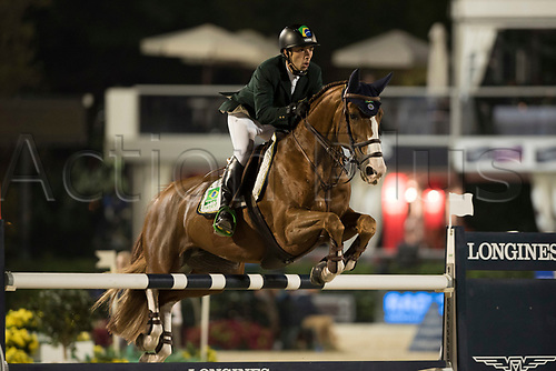29th September 2017, Real Club de Polo de Barcelona, Barcelona, Spain; Longines FEI Nations Cup, Jumping Final; AL HAJRI Mohammed Ghanem (UAE)  riding Pour Le Poussage during the final of the Nations Cup