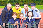 Castleisland Special Olympics members celebrate their athletes medal haul at the Munster championships which was held in Cork on the 14th June front row l-r: Sheila Kerley, Sean Gallagher, Margaret Walsh. Back row: Sean Gallagher, Gary O'Sullivan, Mark Dollard and Garda Liz Twomey   Copyright Kerry's Eye 2008