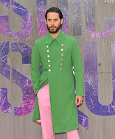 Jared Leto at the &quot;Suicide Squad&quot; European film premiere, Odeon Leicester Square cinema, Leicester Square, London, England, UK, on Wednesday 03 August 2016.<br /> CAP/CAN<br /> &copy;CAN/Capital Pictures /MediaPunch ***NORTH AND SOUTH AMERICAS ONLY***