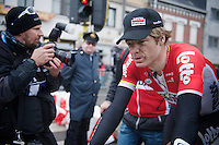 Jurgen Roelandts (BEL/Lotto-Soudal) rolling in in 7th, after having led the race for almost 60km<br /> <br /> 77th Gent-Wevelgem 2015