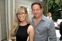 Lizzy Cooperman, Andy Moses==<br /> LAXART 5th Annual Garden Party Presented by Tory Burch==<br /> Private Residence, Beverly Hills, CA==<br /> August 3, 2014==<br /> ©LAXART==<br /> Photo: DAVID CROTTY/Laxart.com==