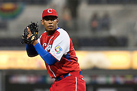 18 March 2009: #17 Vladimir Garcia Escalante of Cuba pitches against Japan during the 2009 World Baseball Classic Pool 1 game 5 at Petco Park in San Diego, California, USA. Japan wins 5-0 over Cuba.