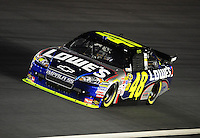 Oct. 15, 2009; Concord, NC, USA; NASCAR Sprint Cup Series driver Jimmie Johnson during qualifying for the Banking 500 at Lowes Motor Speedway. Mandatory Credit: Mark J. Rebilas-