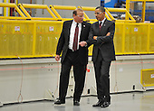 United States President Barack Obama (R) tours Orion Energy Systems, Inc. with founder and CEO Neal Verfuerth in Manitowoc, Wisconsin on Wednesday, January 26, 2011. President Obama, Vice President Joe Biden and other members of the President's Cabinet traveled across the country Wednesday to highlight the administration's efforts to rebuild the American economy. .Credit: Brian Kersey / Pool via CNP