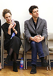 """Laura Osnes and Drew Gehling during a Performance Sneak Peek of The MCP Production of """"The Scarlet Pimpernel"""" at Pearl Rehearsal studio Theatre on February 14, 2019 in New York City."""