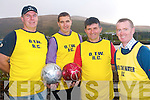 Teams from all over Kerry are invited to come to the first ever St Stephen's day soccer blitz in Cahersiveen this Christmas. The event is organised by the South Kerry Sports Centre to raise funds for Over the Water rowing club. .L-R DJ O'Connor, Maurice Fitzgerald, Batty Moriarty and Ger O'Sullivan.