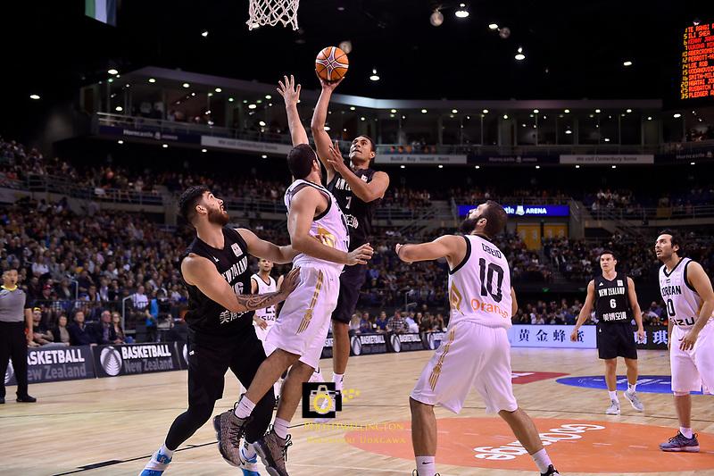 New Zealand Tall Blacks&rsquo; Mika Vukona in action during the FIBA World Cup Basketball Qualifier - NZ Tall Blacks v Jordan at Horncastle Arena, Christchurch, New Zealand on Thursday 29 November  2018. <br /> Photo by Masanori Udagawa. <br /> www.photowellington.photoshelter.com