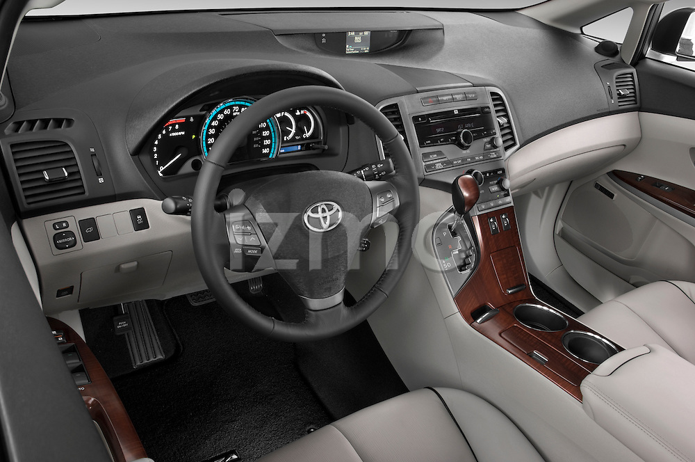 High angle dashboard view of a  2009 Toyota Venza