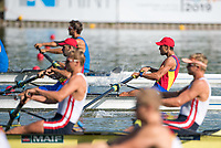 Plovdiv BULGARIA. 2017 FISA. Rowing World U23 Championships.  ROM BM2-. Bow. TIGANESCU, Mihaita-Vasile and PASCARI, Cosmin. Thursday AM,  Heats09:15:06  Thursday  20.07.17   <br /> <br /> [Mandatory Credit. Peter SPURRIER/Intersport Images].