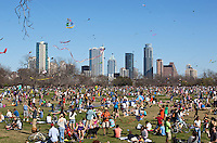 The Zilker Park Kite Festival is America's oldest continuous kite festival, held every March in downtown Austin, Texas