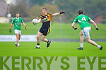 Greg Horan Austin Stacks in action against Dan O'Sullivan Saint Kierans in the Quarter Finals of the County Championship at Austin Stack Park on Sunday.