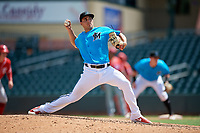 Miami Marlins pitcher Brian McKenna (37) during an Instructional League game against the Washington Nationals on September 25, 2019 at Roger Dean Chevrolet Stadium in Jupiter, Florida.  (Mike Janes/Four Seam Images)