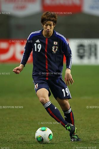 Yuki Otsu (JPN), .FEBRUARY 6, 2013 - Football / Soccer : .KIRIN Challenge Cup 2013 Match between Japan 3-0 Latvia .at Home's Stadium Kobe in Hyogo, Japan. .(Photo by Akihiro Sugimoto/AFLO SPORT)