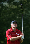 6 September 2008:   Steve Stricker watches the ball after driving off the second hole in the second round of play at the BMW Golf Championship at Bellerive Country Club in Town & Country, Missouri, a suburb of St. Louis, Missouri.  The BMW Championship is the third event on the PGA's Fed Ex Tour.