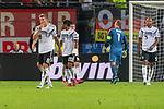 06.09.2019, Volksparkstadion, HAMBURG, GER, EMQ, Deutschland (GER) vs Niederlande (NED)<br /> <br /> DFB REGULATIONS PROHIBIT ANY USE OF PHOTOGRAPHS AS IMAGE SEQUENCES AND/OR QUASI-VIDEO.<br /> <br /> im Bild / picture shows<br /> <br /> #enttäuscht / enttaeuscht / traurig /<br /> Toni Kroos (Deutschland / GER #08)<br /> Serge Gnabry (Deutschland / GER #20)<br /> Manuel Neuer (Deutschland / GER #01)<br /> <br /> <br /> während EM Qualifikations-Spiel Deutschland gegen Niederlande  in Hamburg am 07.09.2019, <br /> <br /> Foto © nordphoto / Kokenge