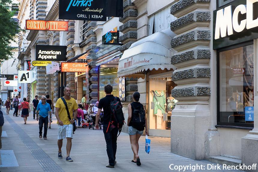 Grill und Kebab T&uuml;rkis auf der Einkaufsstra&szlig;e  Mariahilfer Stra&szlig;e, Wien, &Ouml;sterreich<br /> Grill and Kebab T&uuml;rkis on shoppingstreet Mariahilfer Str., Vienna, Austria