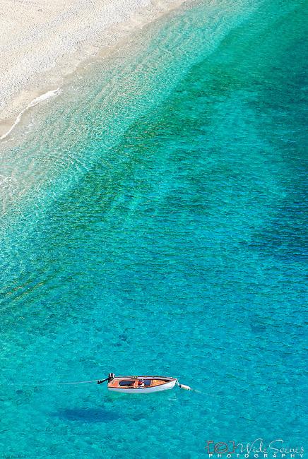 Crystal clear waters of Monterosso al Mare in Cinque Terre, Italy